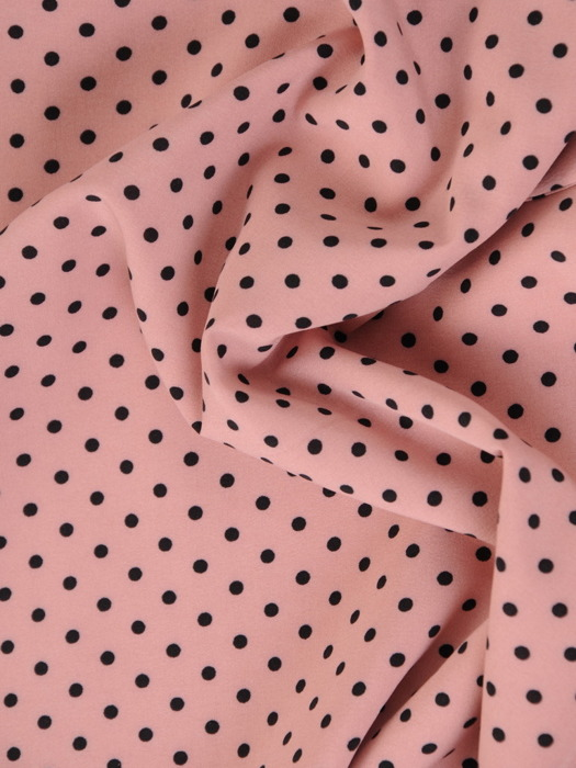 Sukienka z paskiem, wiosenna kreacja w groszki 20631.