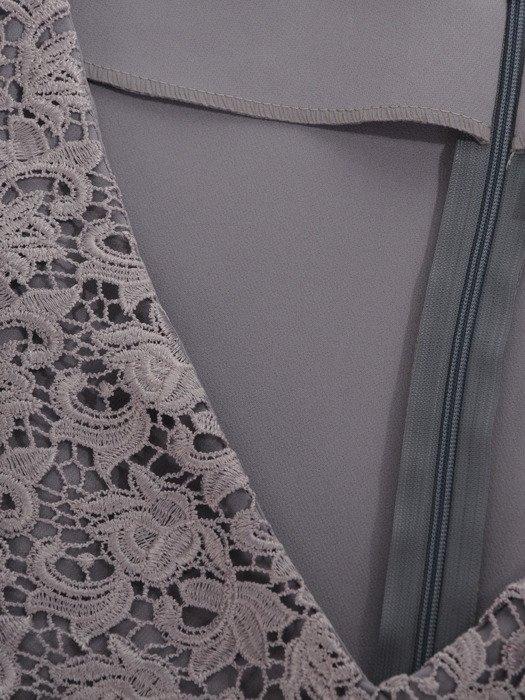 Sukienka z podwójną baskinką, elegancka kreacja wizytowa 16889