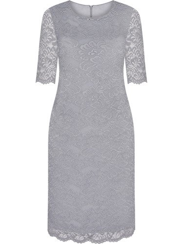 Sukienka z połyskującej koronki Zarita V, szykowna kreacja na wesele