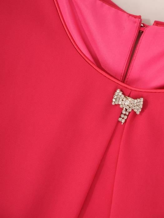 Sukienka z szyfonu, kreacja w fasonie maskującym brzuch 29789