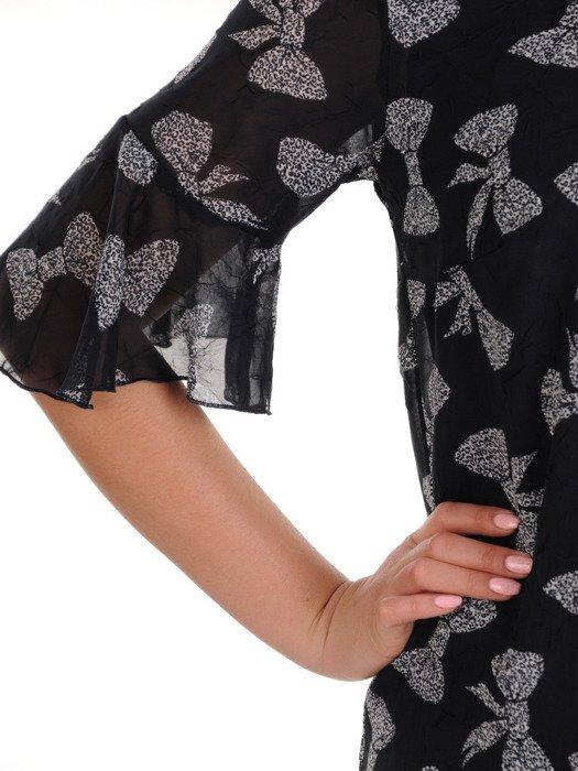 Sukienka z szyfonu, luźna kreacja w modnym wzorze 19826.