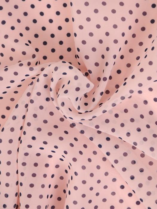 Sukienka z szyfonu, zwiewna kreacja w groszki 20630.