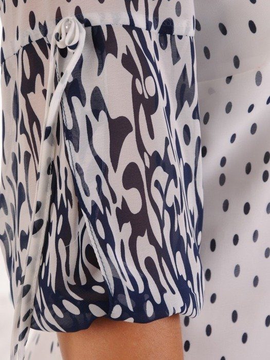 Sukienka z szyfonu, zwiewna kreacja w groszki 26762