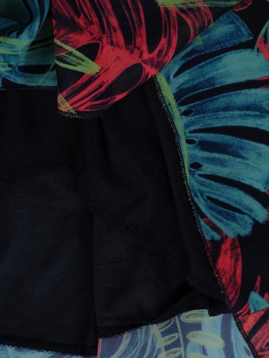 Sukienka z szyfonu, zwiewna kreacja w kwiaty 20989.