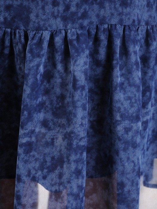 Sukienka z szyfonu, zwiewna kreacja z falbanami 25438