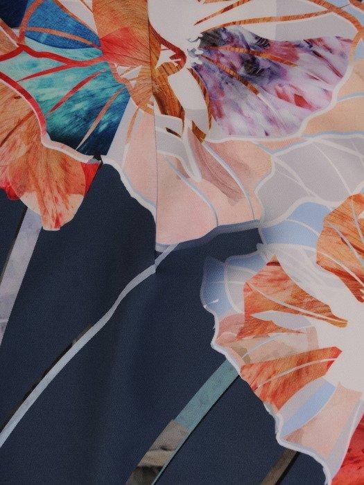 Sukienka z tkaniny, wiosenna kreacja w kwiaty 20069.