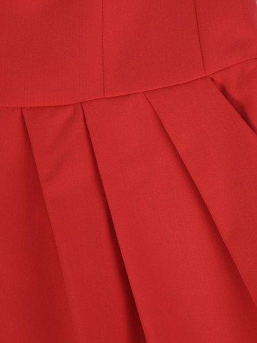 Sukienka z zakładkami Łucja VI, elegancka kreacja z efektownym marszczeniem.