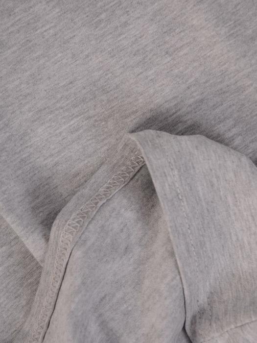 Szara bluzka z szyfonową wstawką 21965