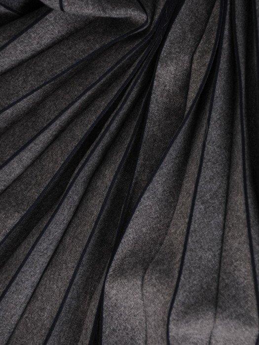 Szara spódnica w wąskie plisy 18639.