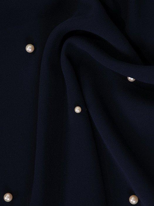 Szyfonowa bluzka ozdobiona perełkami 19246