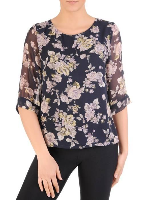 Szyfonowa bluzka w kwiaty 29601