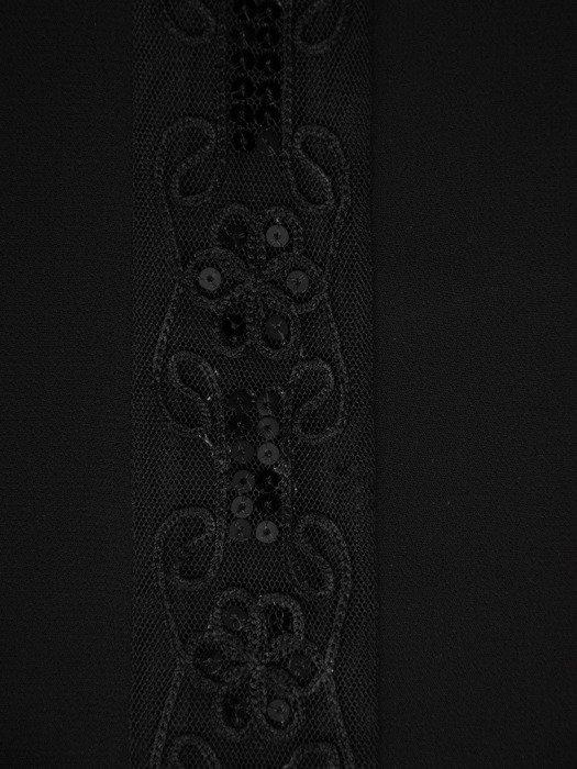 Szyfonowa bluzka z dekoracyjną listwą 14175.