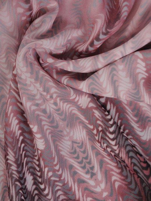 Szyfonowa bluzka z nowoczesnym, cieniowanym nadrukiem 19700