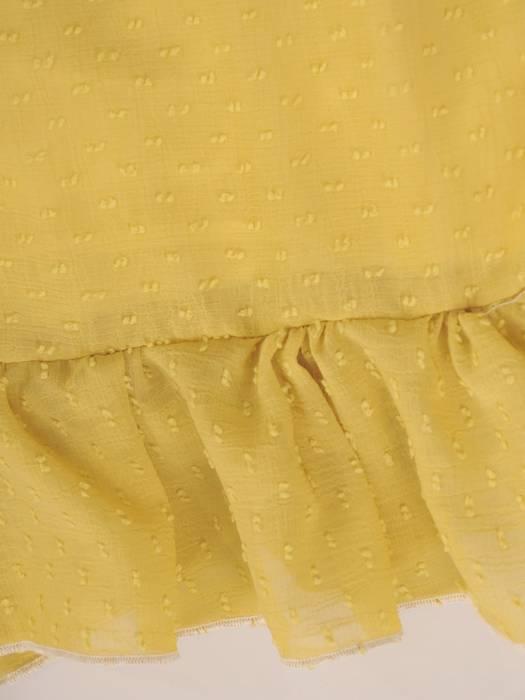 Szyfonowa sukienka z kopertowym dekoltem i falbankami 30222