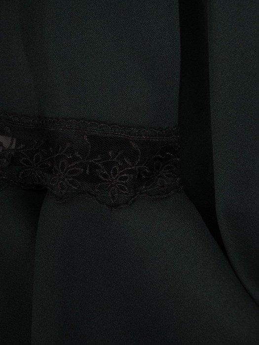 Trapezowa sukienka z koronkowymi wstawkami na rękawach 24157