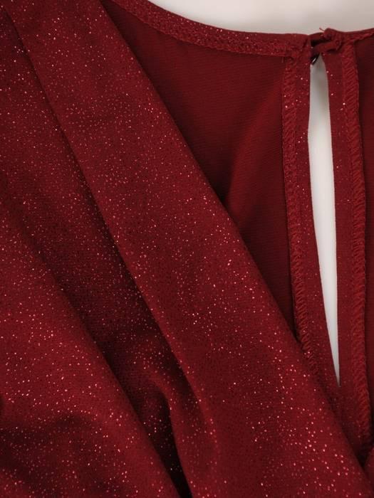 Wieczorowa sukienka damska, rozkloszowana kreacja z dłuższym tyłem 27465