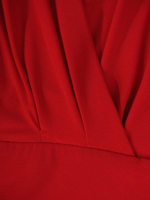 Wieczorowa sukienka z ozdobnym dekoltem na plecach 24401