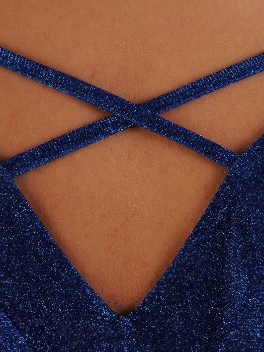 Wieczorowa sukienka z ozdobnym wycięciem na plecach 24223