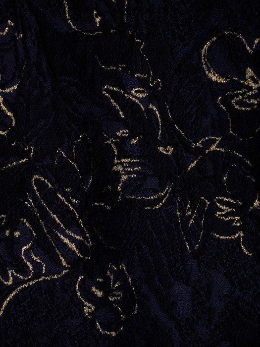 Wieczorowa sukienka z połyskującej, fakturowanej dzianiny 18656.