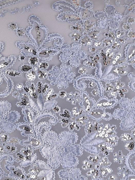 Wieczorowa sukienka z szyfonową imitacją bolerka 20178