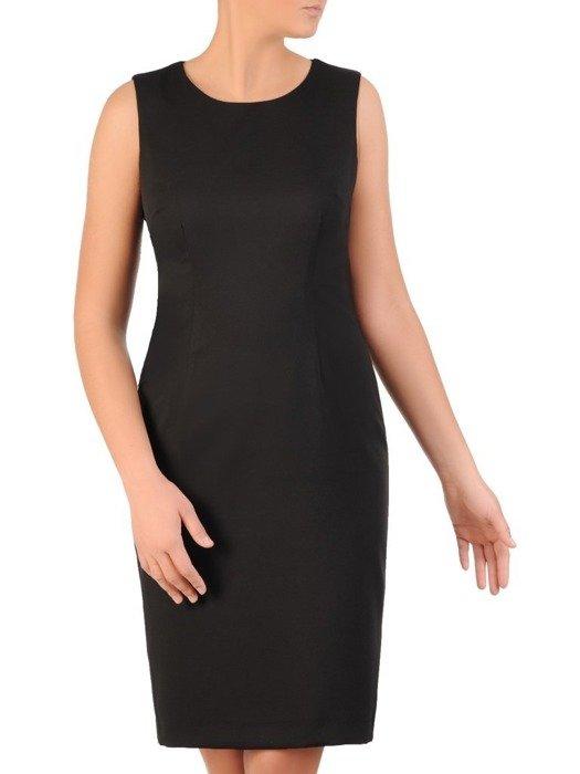 Wieczorowy komplet, czarna sukienka z połyskującą narzutką 24011