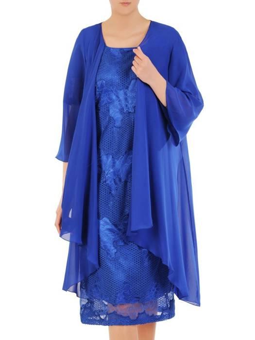 Wieczorowy komplet damski, koronkowa sukienka z lekką narzutką 29873