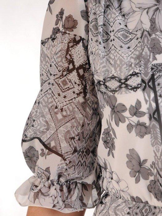 Wiosenna kreacja, modna sukienka z szyfonu 25670