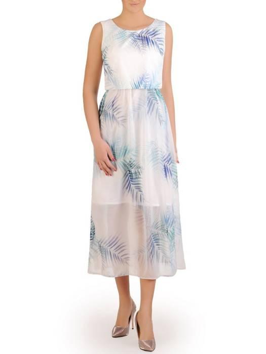 Wiosenna, szyfonowa sukienka w oryginalnym wzorze 29249