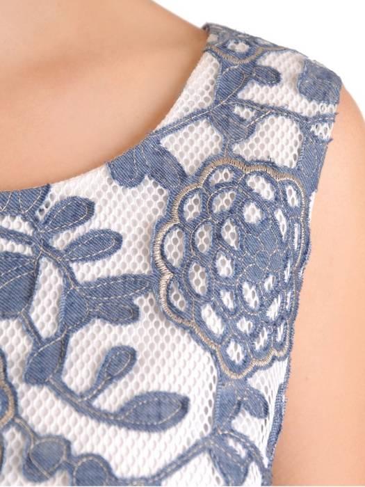 Wizytowa sukienka z koronki, kreacja w kwiatowy deseń 30201