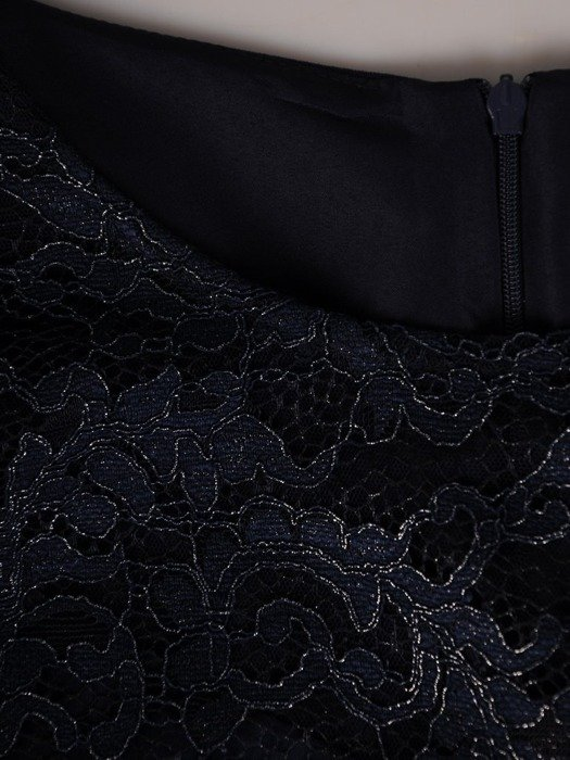 Wizytowa sukienka z koronkowym topem 25243