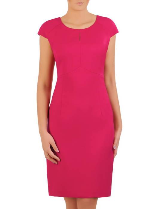 Wizytowy komplet damski, elegancka sukienka z długim żakietem 31057