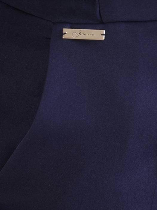Wygodne spodnie z gumką w kolorze granatowym 28422