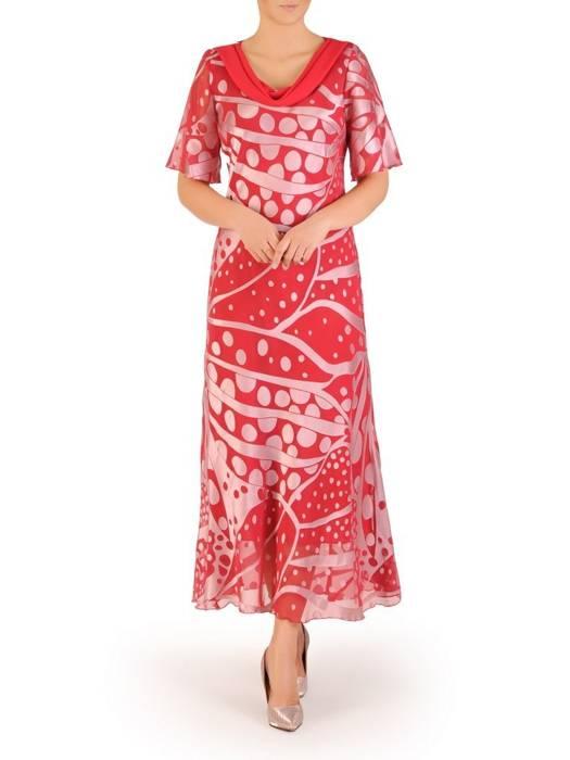 """Wyjściowa sukienka z dekoltem typu """"woda"""" 30445"""