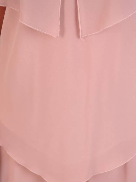 Wyjściowa sukienka z szyfonu, zwiewna kreacja z falbanami 29786