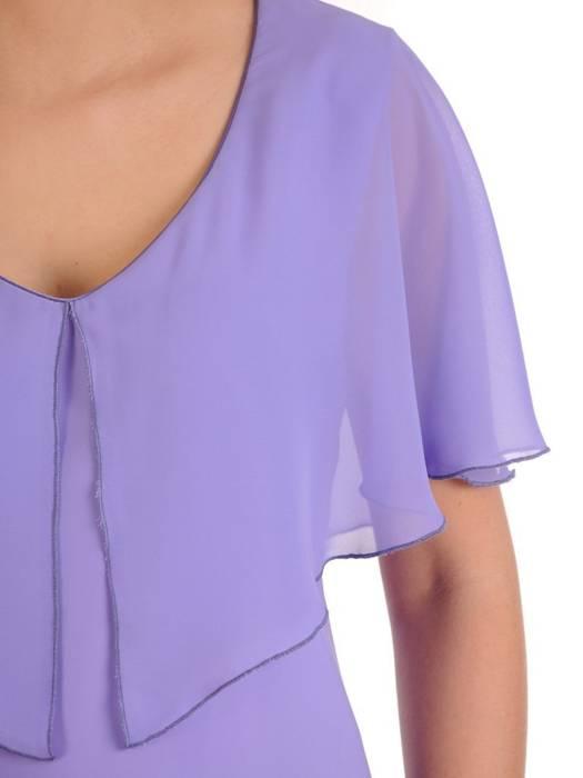 Wyjściowa sukienka z szyfonu, zwiewna kreacja z falbanami 29787