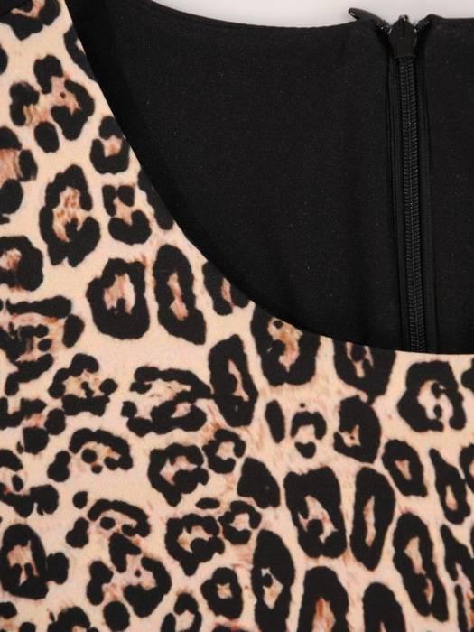 Wyszczuplająca sukienka damska, kreacja z ozdobnym zamkiem 28413
