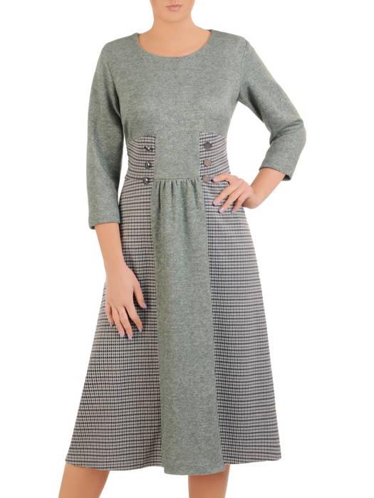 Wyszczuplająca sukienka damska o trapezowym kroju 30866