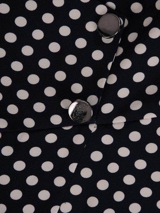 Wyszczuplająca sukienka z asymetryczną baskinką 19537