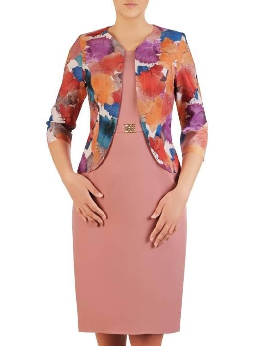 Wyszczuplająca sukienka z imitacją żakietu 26289