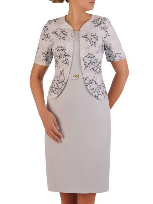 Wyszczuplająca sukienka z imitacją żakietu 26290
