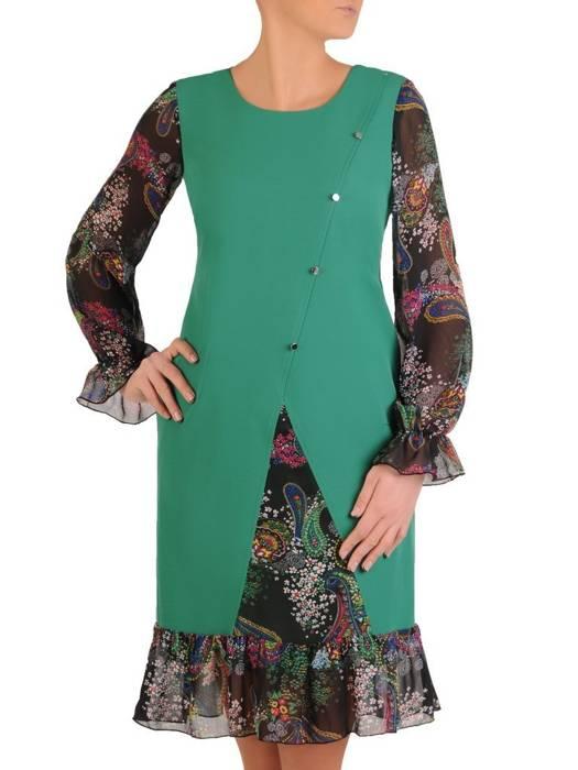 Wyszczuplająca sukienka z szyfonowymi wstawkami 28074