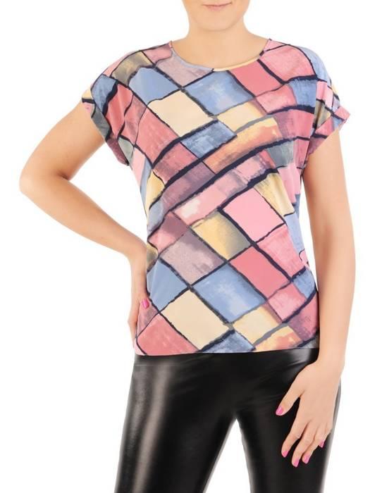 Wzorzysta bluzka z tkaniny 29988