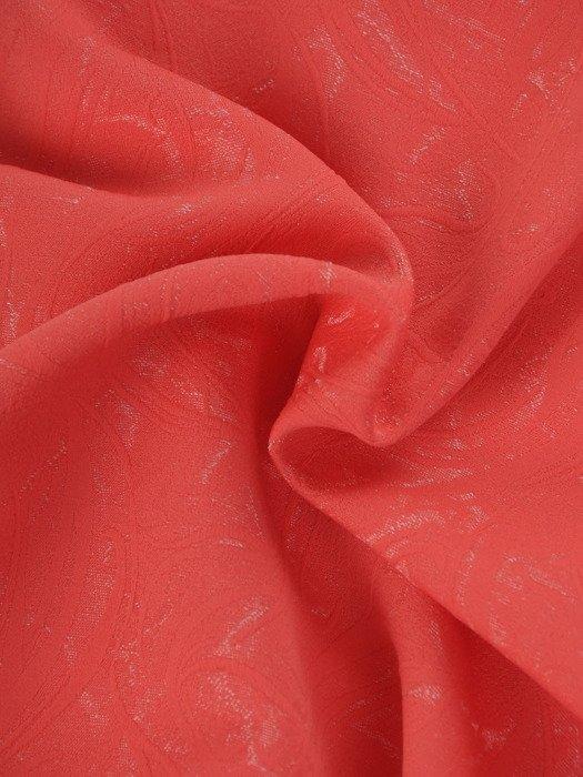 Żakardowa sukienka Tycjana V, kreacja wizytowa w kolorze koralowym.