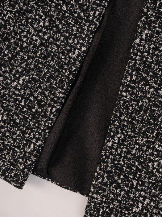 Żakiet damski z melanżowej tkaniny 24053