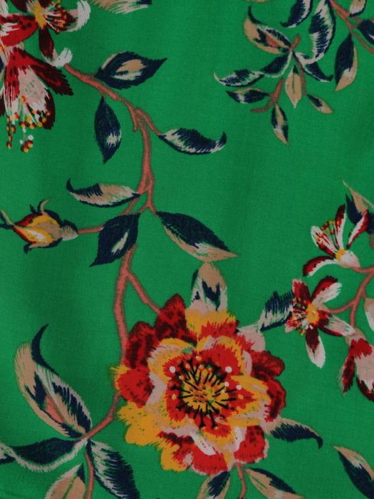 Zielona bluzka w kwiaty 20303.