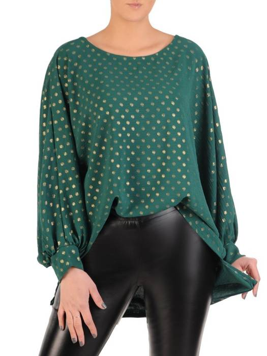 Zielona bluzka z przedłużanym tyłem 28647