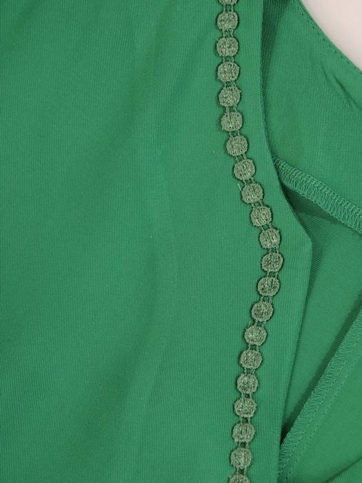 Zielona tunika z efektownym wykończeniem 29042