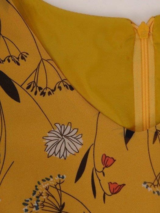 Zwiewna sukienka z falbankami przy rękawach 25329