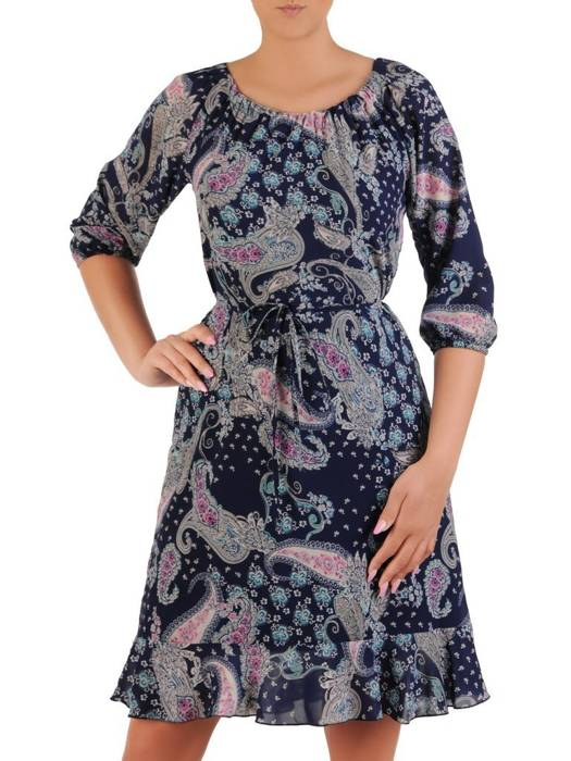 Zwiewna sukienka z ozdobnymi falbanami 26259