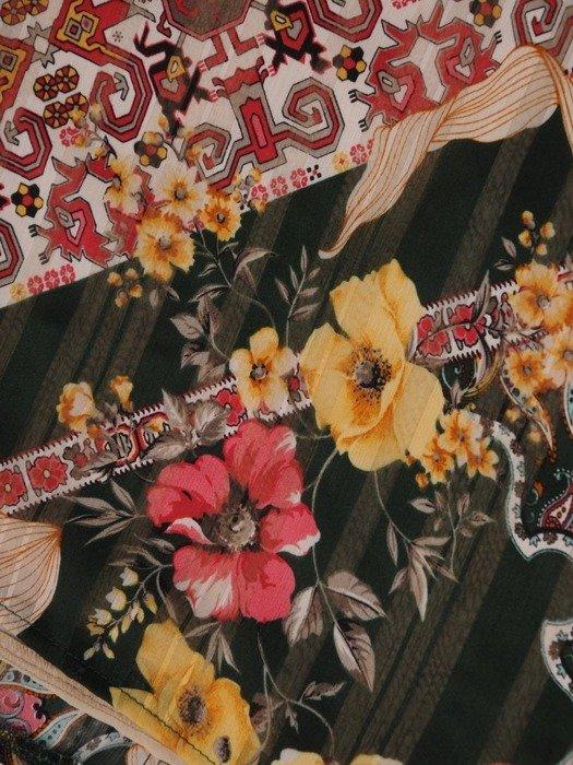 Zwiewna szyfonowa bluzka z falbanami na rękawach 24827